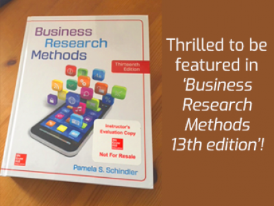 Betty's work cited in the Business Research Methods book, 13th edition