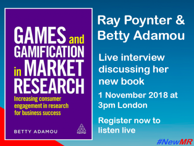 Ray Poynter interviews Betty Adamou